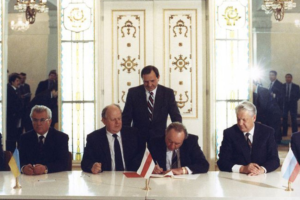 8.12.1991год, Вискули, подписание Беловежского соглашения.