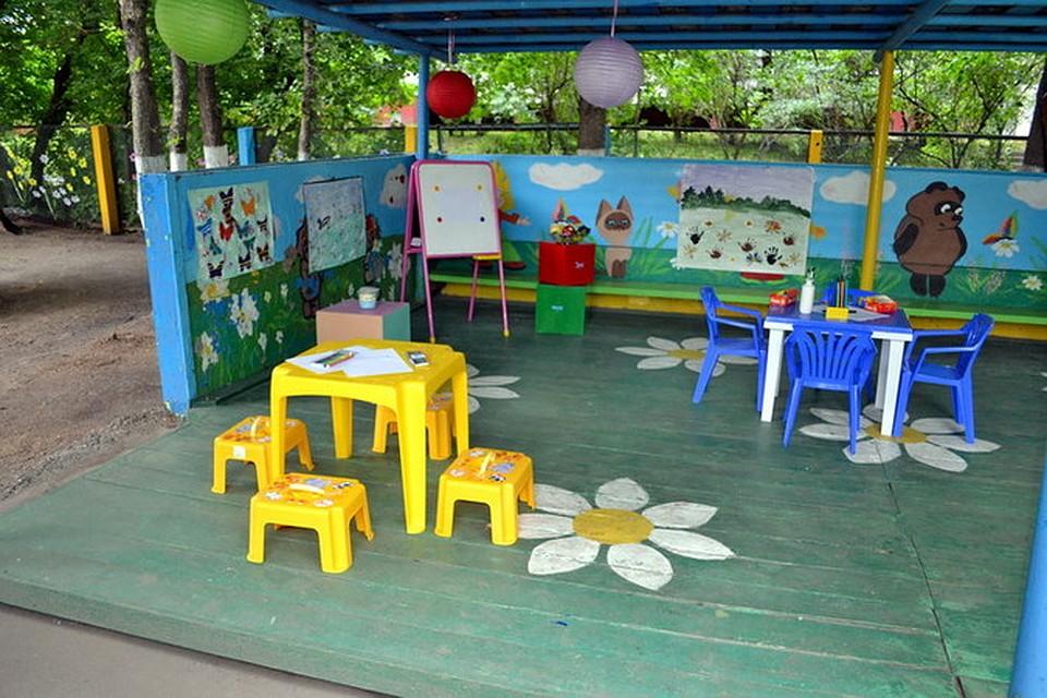 Картинка детского участка в садике