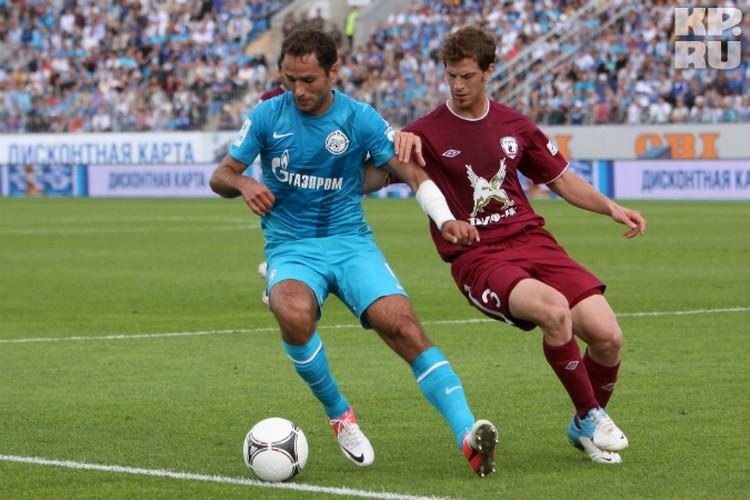 "Кристиан Ансальди (справа) неоднократно играл против ""Зенита"", а теперь сам наденет футболку петербургского клуба"