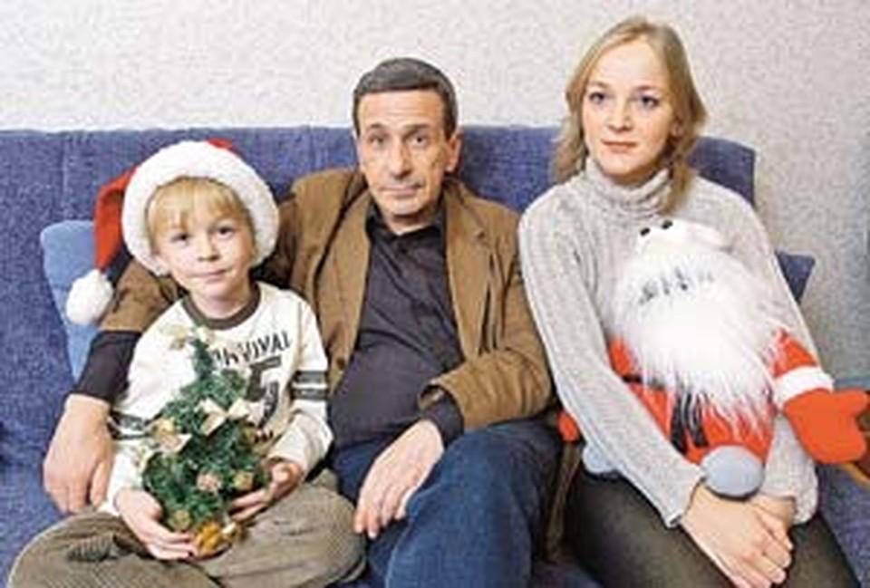 Смолкин и Светлана поженились за месяц  до рождения сына Глеба.