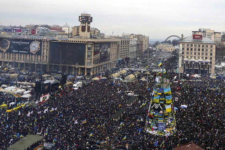 В воскресенье, 15 декабря, в Киеве продолжились акции протеста