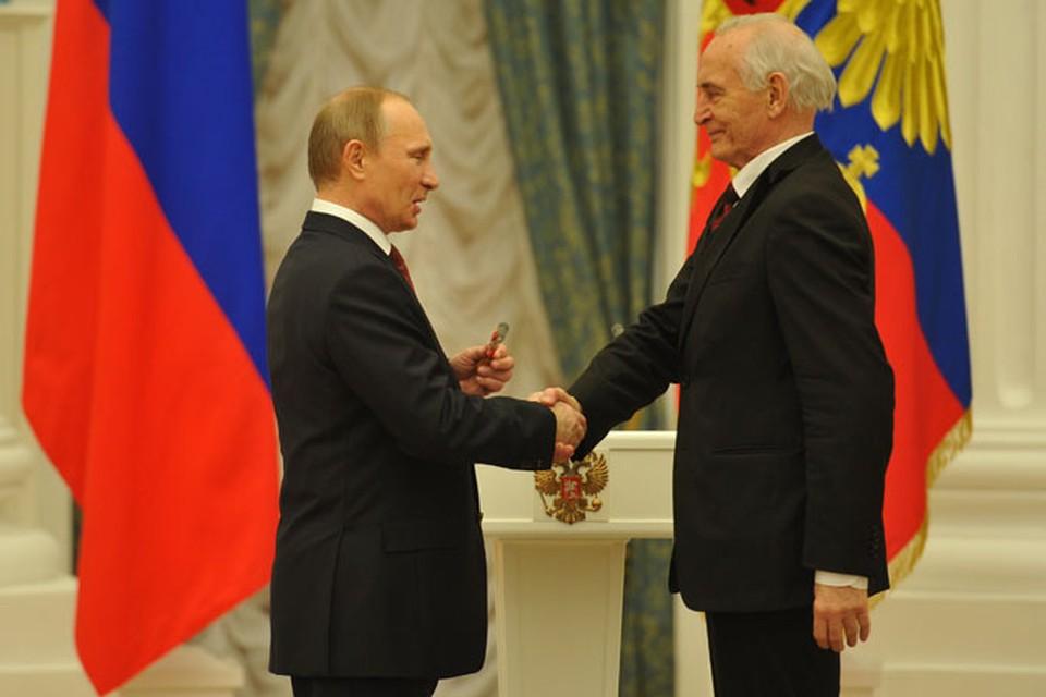Владимир Путин и Василий Лановой.