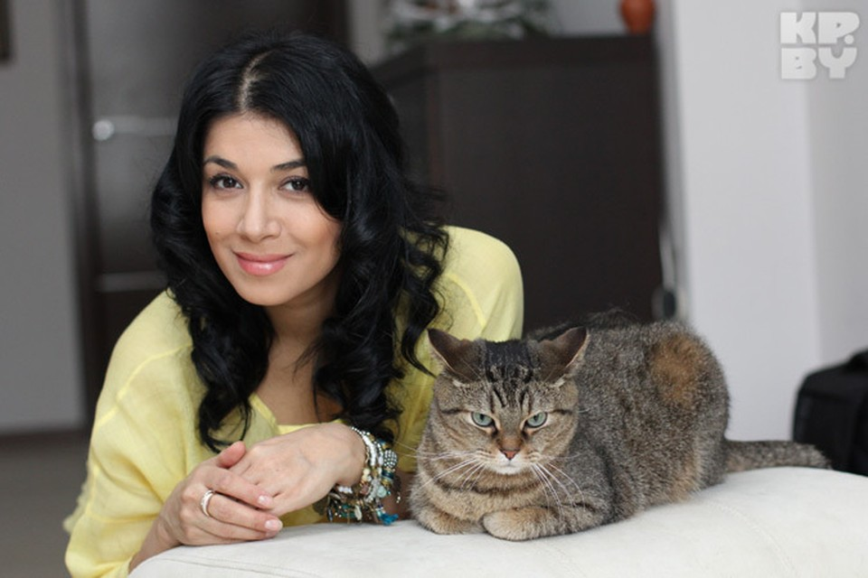Искуи Абалян с любимцем Котей