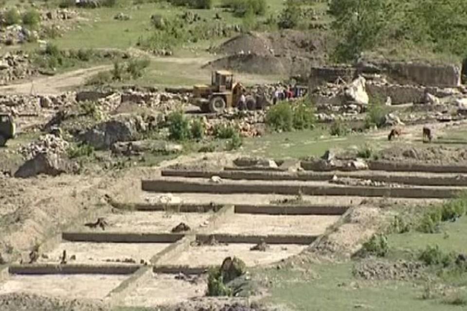Место раскопок древнего города
