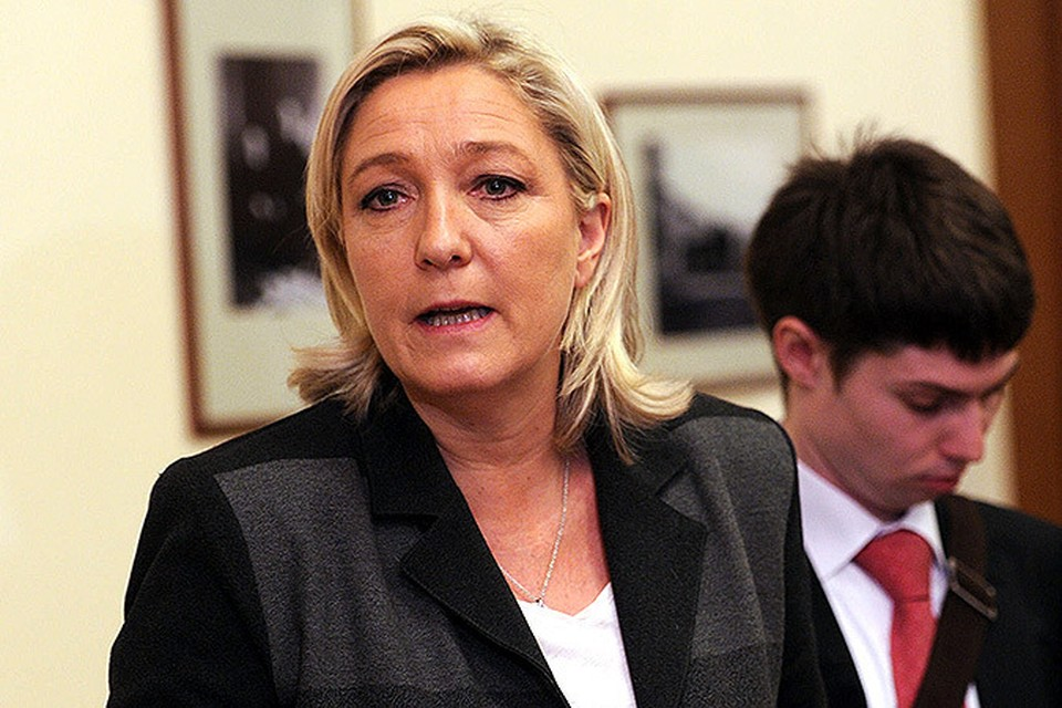 Лидер французской партии «Национальный фронт» Марин Ле Пен
