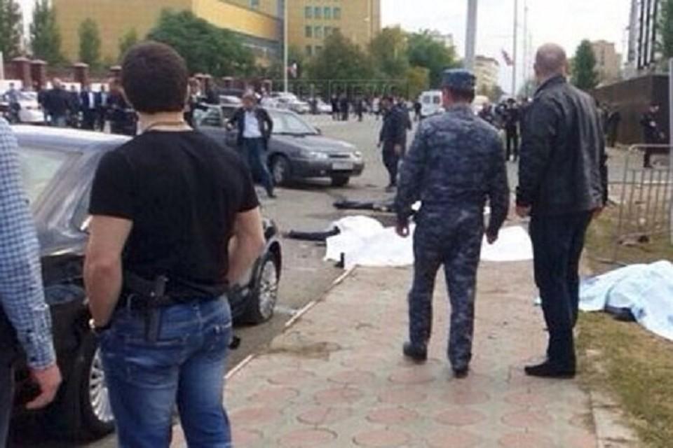Место взрыва в Грозном. Фото: Vk.com