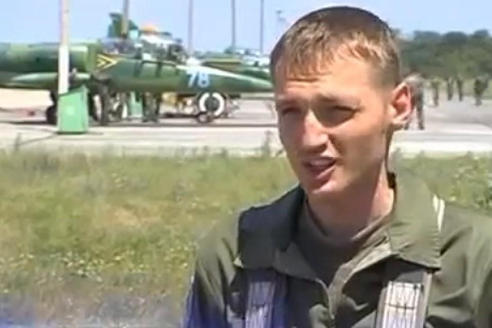 Летчик 299 бригады тактической авиации ВВС Украины Владислав Волошин
