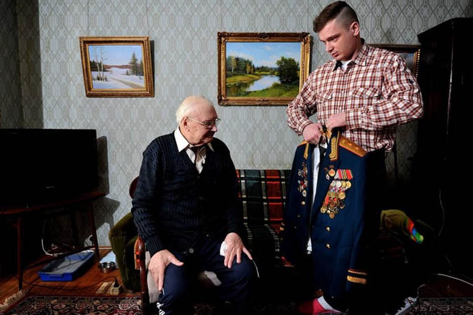 Ветеран Великой Отечественной войны Василий Устюгов.