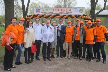 В Петербурге накануне 9 Мая высадили деревья в память о погибших в Великой Отечественной войне