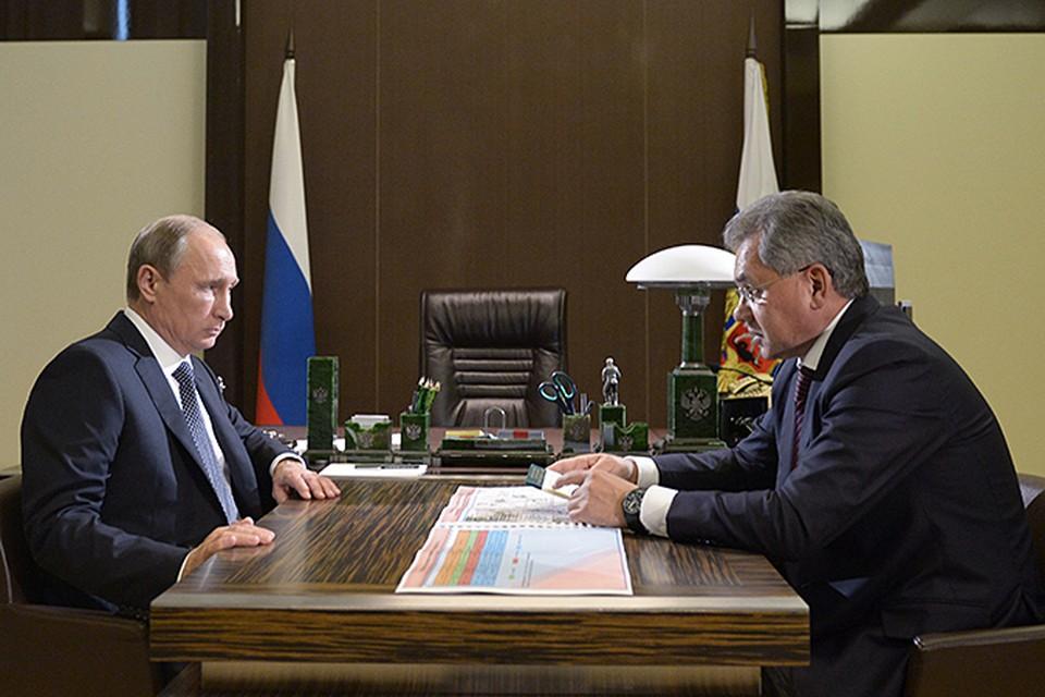 Министр обороны Сергей Шойгу в среду днем приехал на доклад к президенту