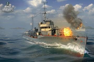 Советские корабли готовятся к бою
