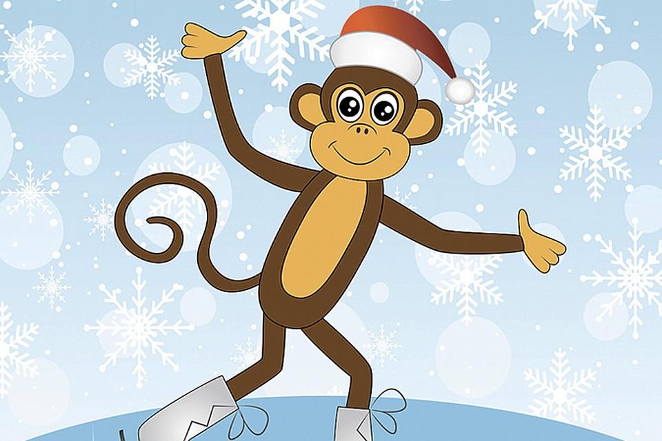 Открытки обезьян к новому году 2016