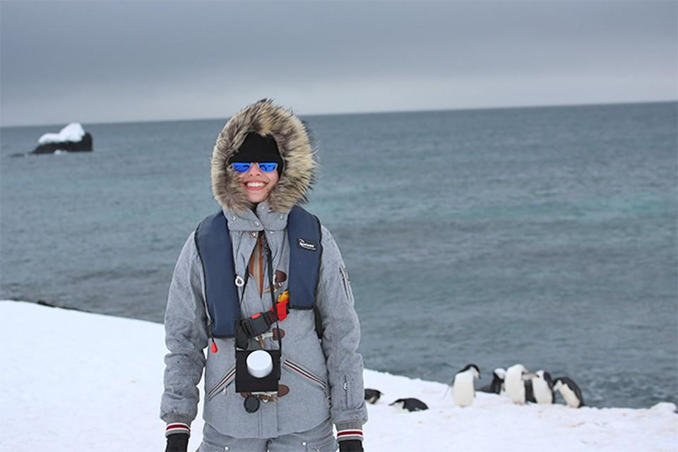 Самарчанка, ведущая телеканала ТВ-Центр, Юлия Шарапова покорила Антарктику ради встречи с пингвинами