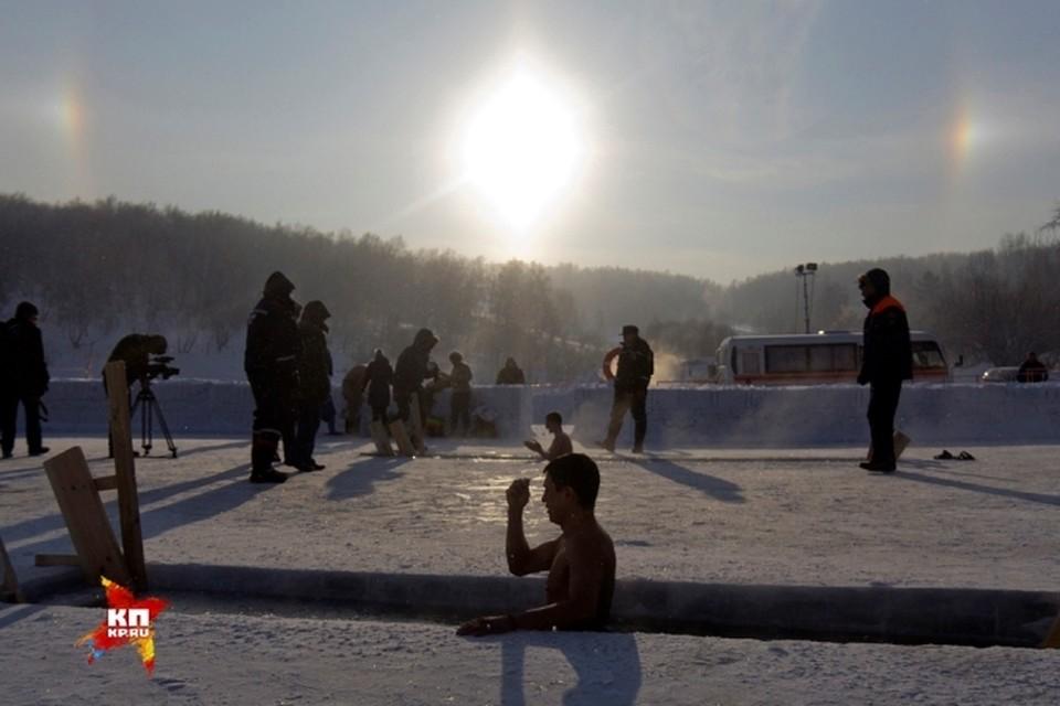 Три солнца появилось в небе над Иркутском в Крещение
