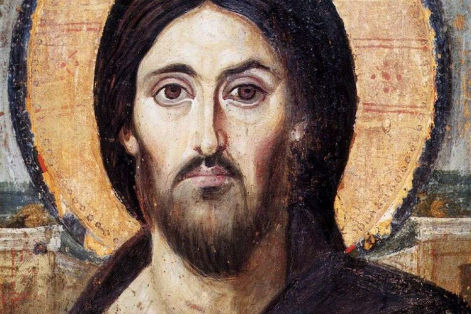 Древнейшая икона Христа (энкаустика, VI век, монастырь Святой Екатерины)