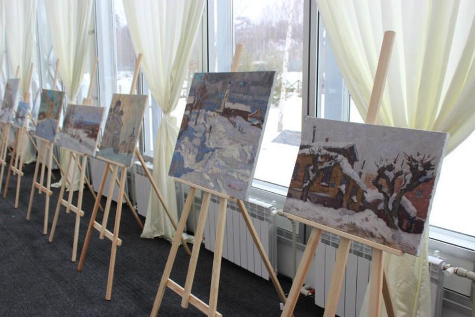 Более 100 полотен с видами зимнего Кирова написали участники пленэра. Фото: Мария ПЕТРОВА