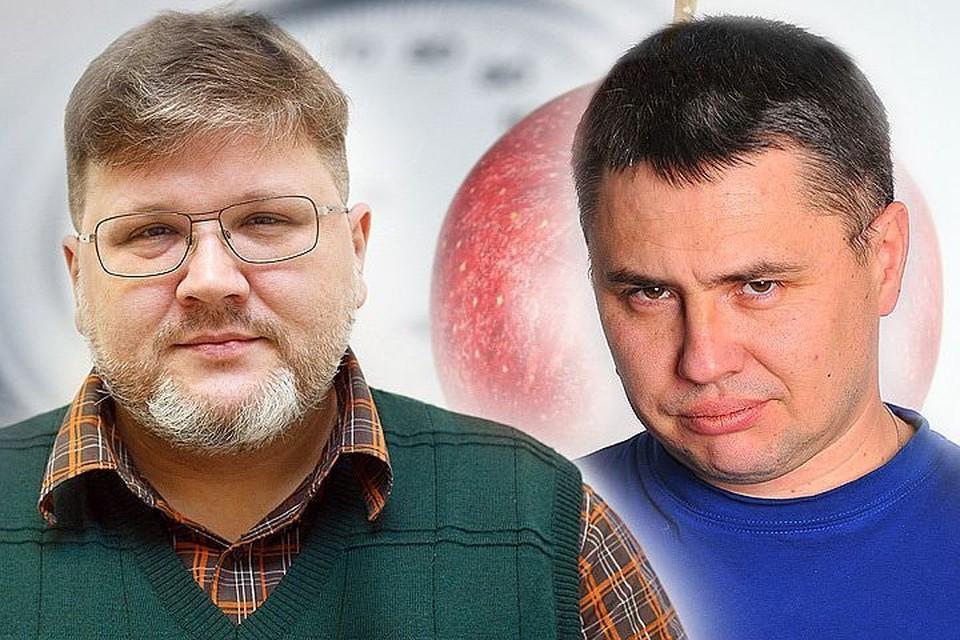 Журналисты «Комсомольской правды» Евгений Кульков (слева) и Евгений Сазонов (справа) решили похудеть на спор. Фото: ГУСЕВА Евгения+ГЛУЗ Александр.
