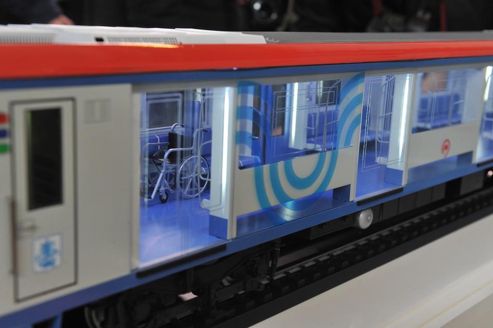Макет поезда повышенной комфортности.