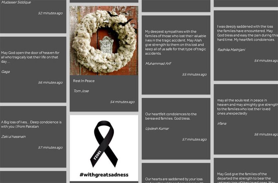 На сайте каждый неравнодушный человек может выразить соболезнования родным и близким погибших. Фото: Скрин сайта