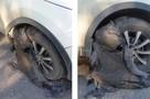 Ремонт дорог по-уфимски: колеса в битуме