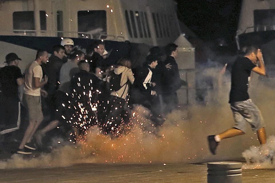 Беспорядки в Марселе после матча Россия-Англия