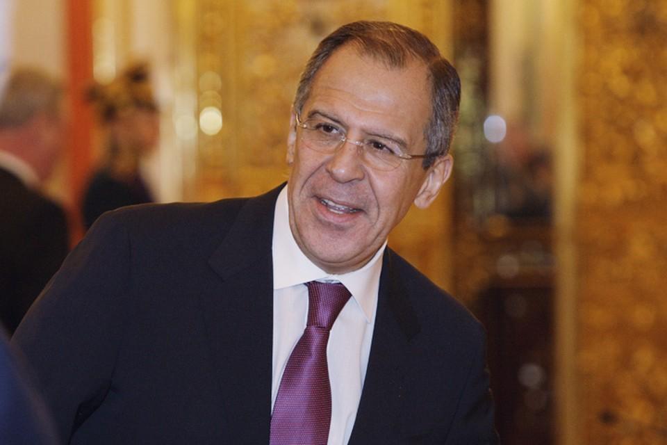 Лавров дал небольшой брифинг перед началом встречи с госсекретарем США Джоном Керри