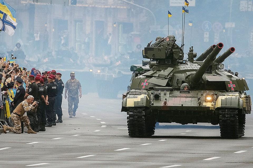 В Киеве прошёл военный парад в честь Дня независимости Украины.