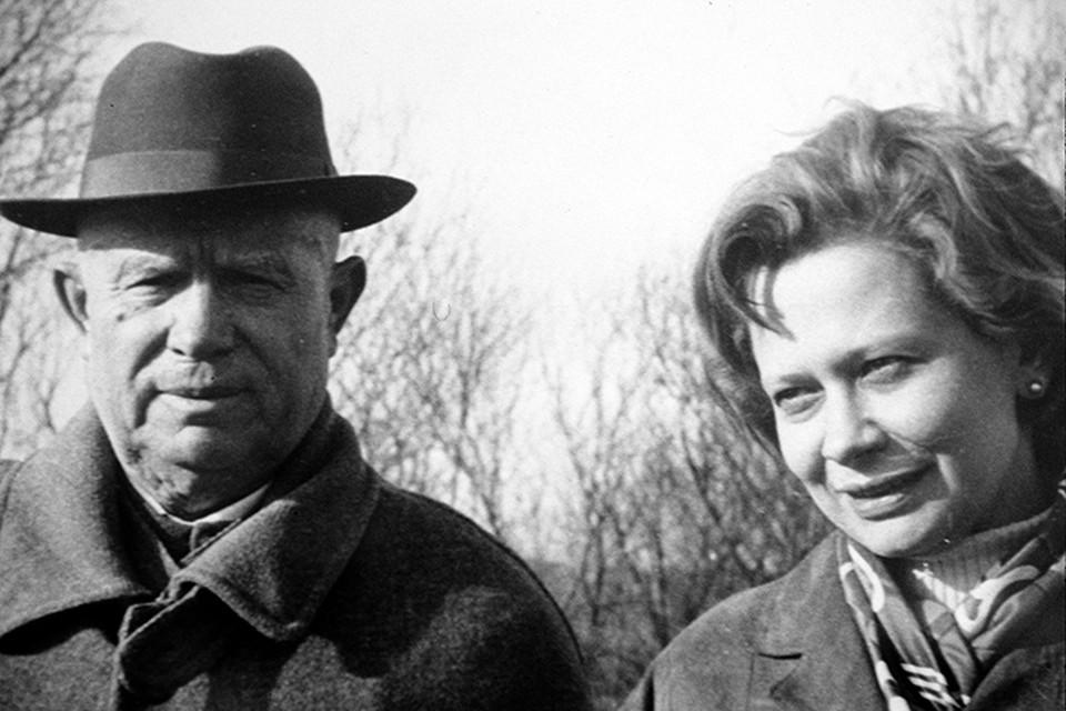 Никита Хрущев с внучкой Юлией