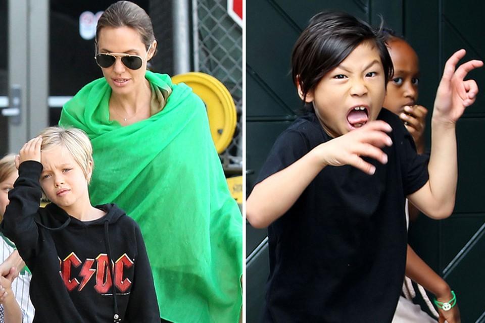 """Дети Анджелины и Брэда растут, не зная слова """"нет""""."""