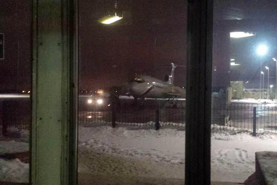 Этот снимок сделал звукооператор НТВ Евгений Толстов перед самым вылетом Ту-154