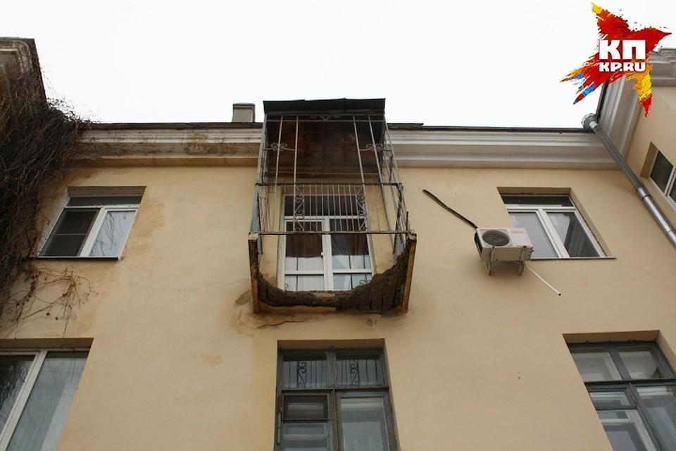 """Жильцы дома на мира, 13: """"возможно, обрушение балкона - посл."""