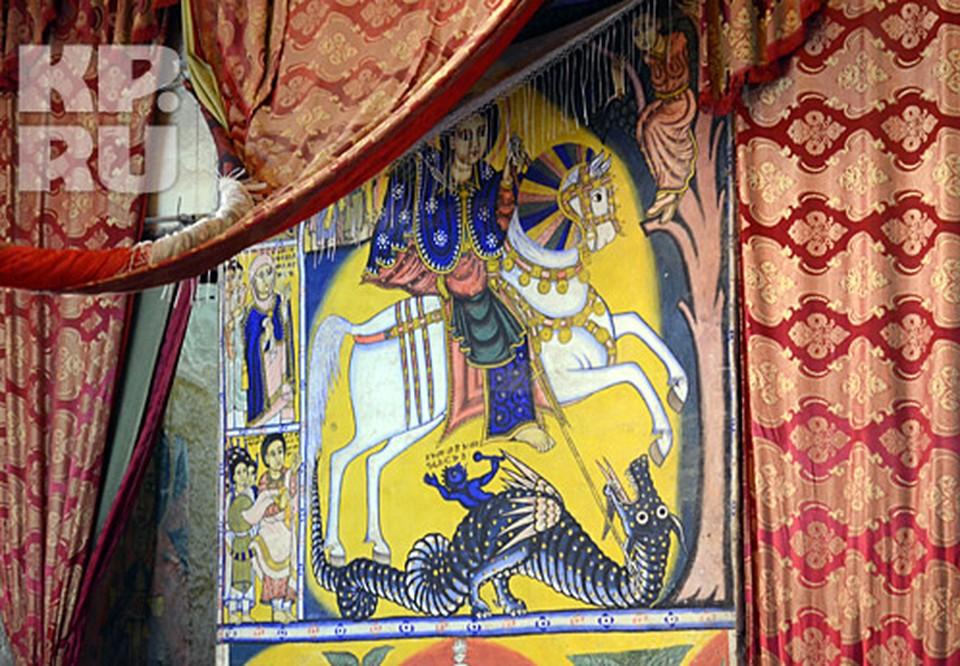 Георгий на стенах аксумского храма