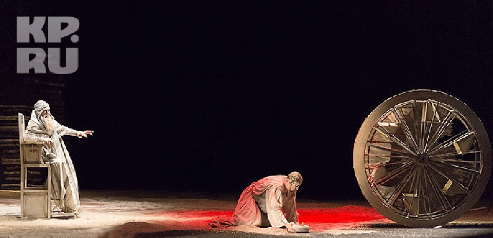 Сцена из спектакля «Борис Годунов»