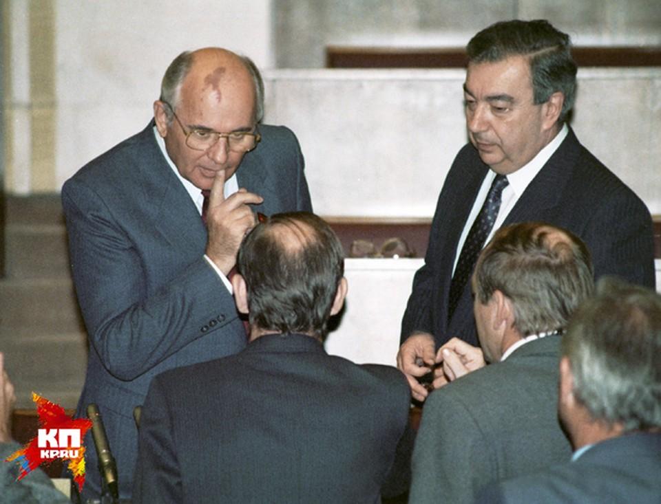 С Михаилом Горбачевым