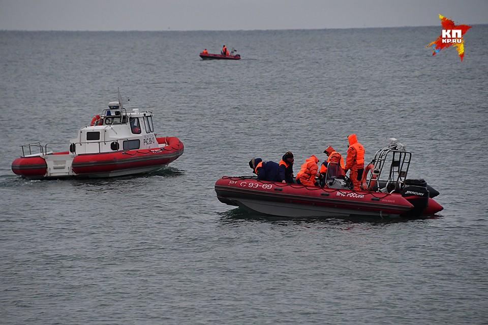 Поисково-спасательная операция на месте крушения ТУ-154 министерства обороны