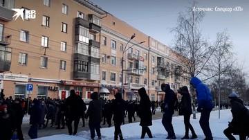 В Барнауле на несанкционированную акцию протеста вышли дети