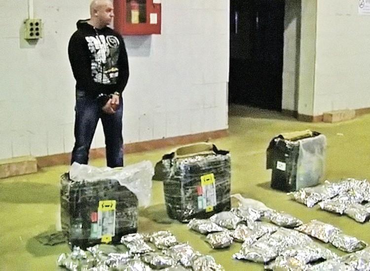 В гараже у Гуменецкого нашли почти 300 кг концентрированной «дури».