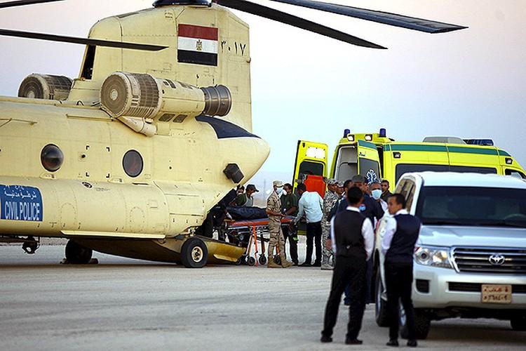 К доставке тел жертв катастрофы привлечены ВВС Египта.