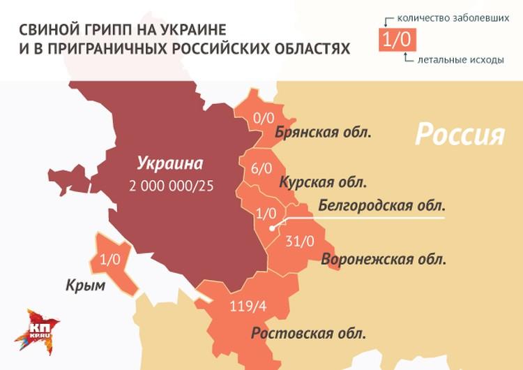 Свиной грипп на Украине и в приграничных российских областях.