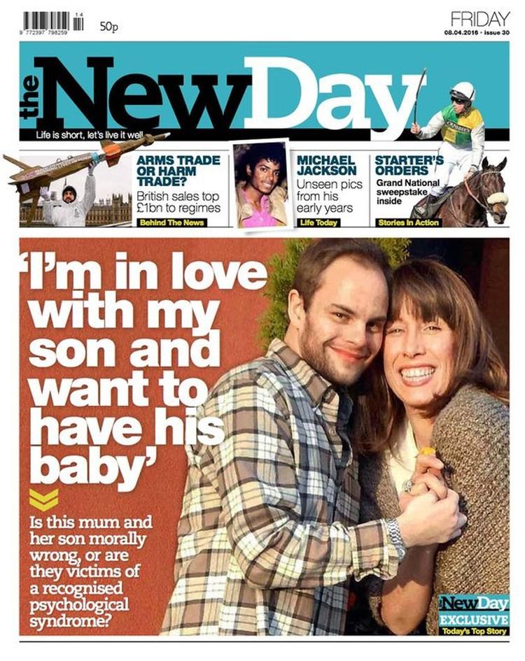 Обложка газеты «The New Day» за 8 апреля этого года.