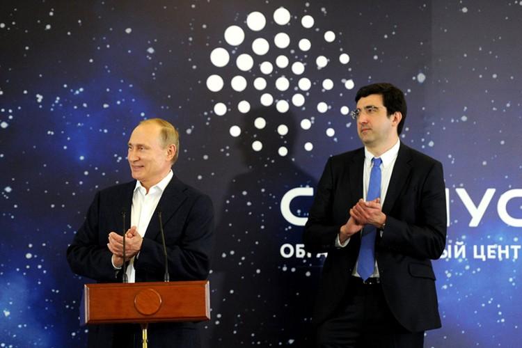 Владимир Путин и 14-й чемпион мира по шахматам Владимир Крамник. Фото: kremlin ru