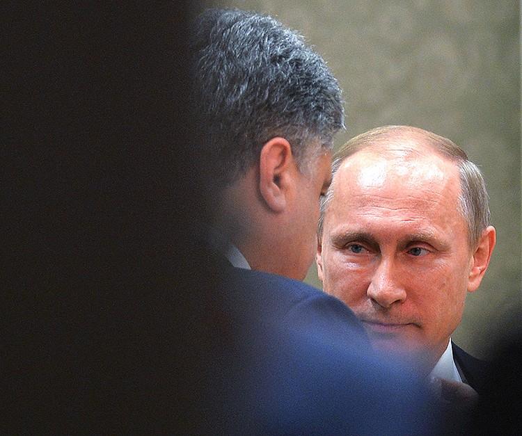 Все провалы киевских властей объясняются ими самими исключительно как происки Москвы. ФОТО Алексей Дружинин/пресс-служба президента РФ/ТАСС