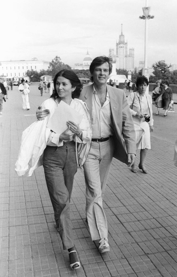 Рената Блюме и Дин Рид в Москве, 1985. Фото: Валерия Христофорова и Александра Шогина /Фотохроника ТАСС