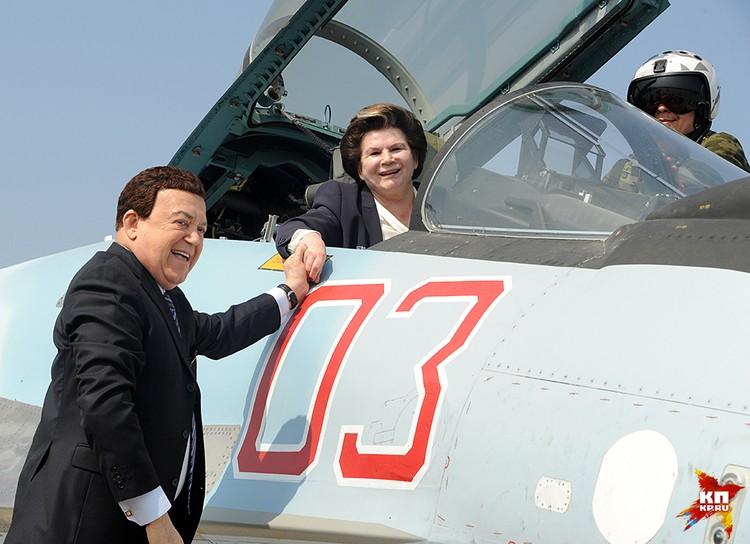 Великий певец и первая в мире женщина-космонавт летали на нашу базу «Хмеймим» в конце февраля этого года