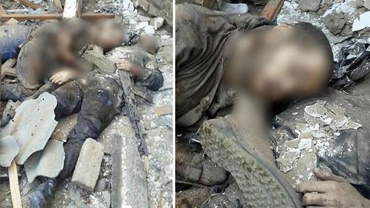 Уничтоженные боевики. Фото: пресс-служба НАК