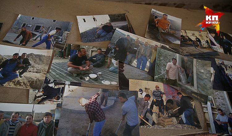 Архивные фотографии христианской общины, занятой ремонтом храма.