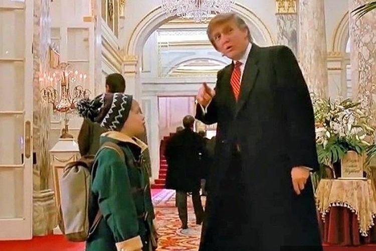 """Дональд Трамп в комедии """"Один дома 2"""""""