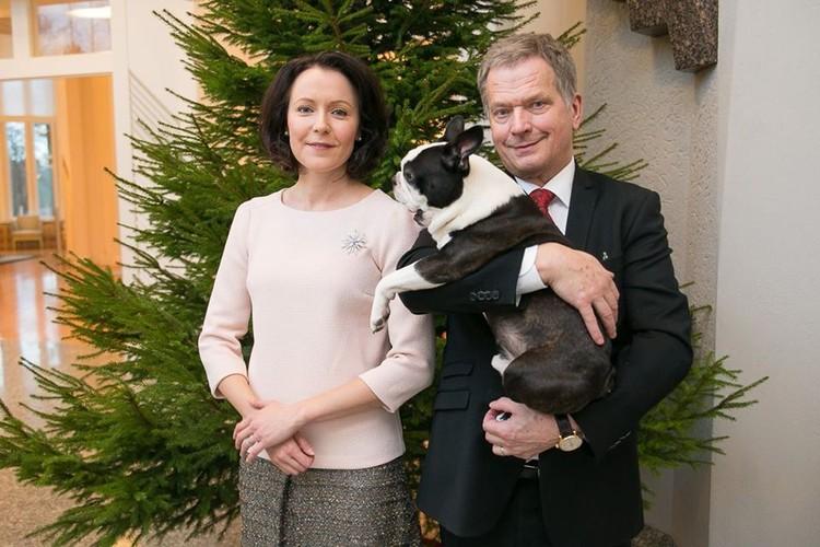 Поздравление президентской четы Финляндии в Новым Годом. Фото: facebook Саули Нийнистё.