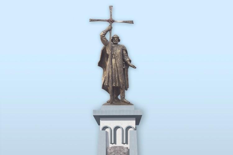 Эскиз памятника князю Владимиру в Калининграде.