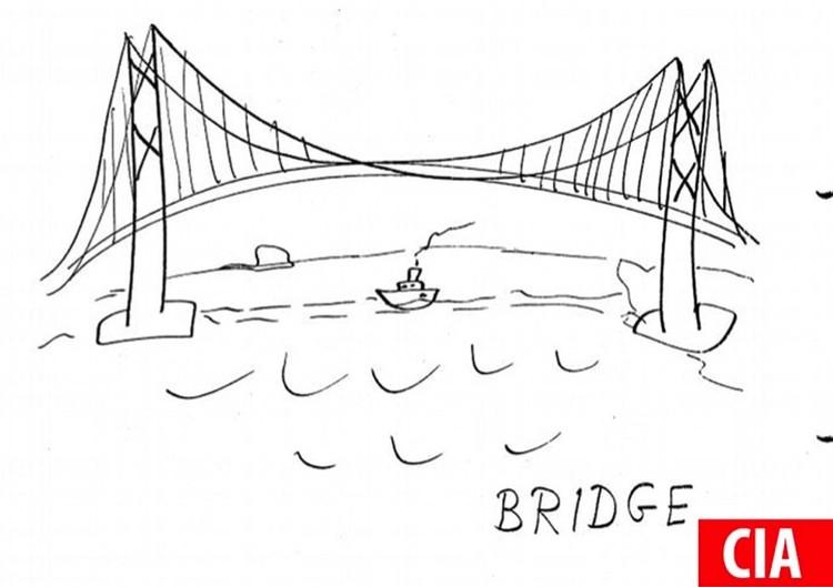 """Мост, """"переданный"""" из ЦРУ."""
